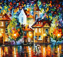 LUXEMBURG NIGHT - Leonid Afremov by Leonid Afremov