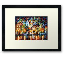 LUXEMBURG NIGHT - Leonid Afremov Framed Print