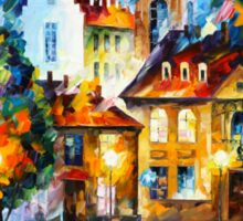 LUXEMBURG NIGHT - Leonid Afremov Sticker