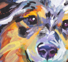 Sheltie Shetland Sheepdog Bright colorful pop dog art Sticker