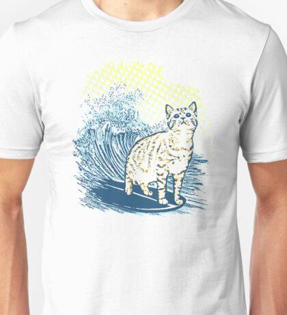 Surfing Cat Unisex T-Shirt