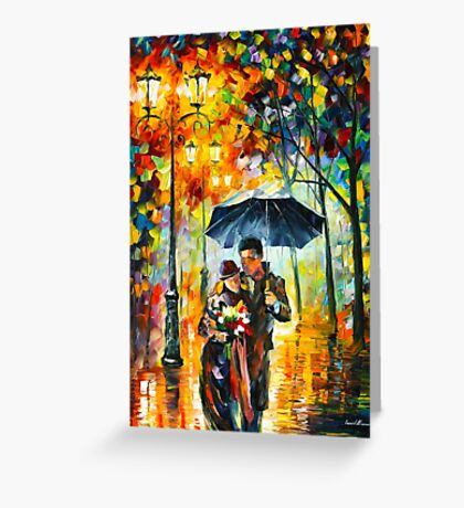 WARM NIGHT - Leonid Afremov Greeting Card