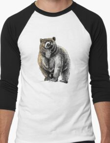 The Great Bear - A fierce protector Men's Baseball ¾ T-Shirt