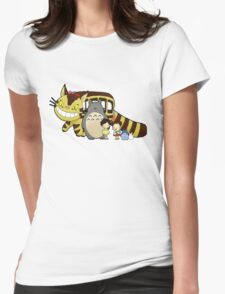 Totoro, to-to-ro Womens Fitted T-Shirt