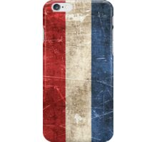 Vintage Aged and Scratched Dutch Flag iPhone Case/Skin