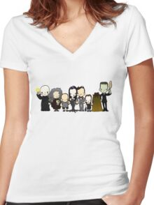 They're creepy and they're kooky Women's Fitted V-Neck T-Shirt