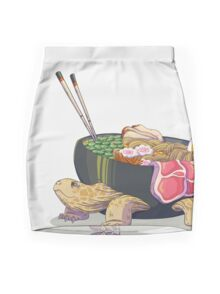 Ramen Tortoise  Mini Skirt