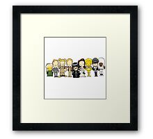 In a galaxy very, very, very, very far away there lived a ruthless race of beings known as... Spaceballs Framed Print