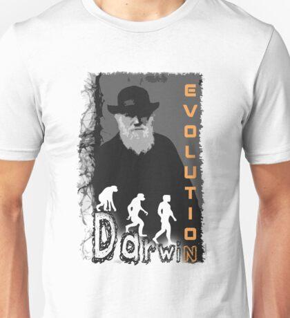 Darwin Evolution by Crazydodo Unisex T-Shirt