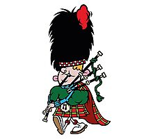 Scottish Bagpipe Player in Kilt  Photographic Print