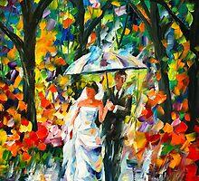 WEDDING UNDER THE RAIN - Leonid Afremov by Leonid Afremov