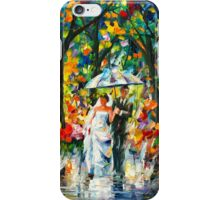 WEDDING UNDER THE RAIN - Leonid Afremov iPhone Case/Skin