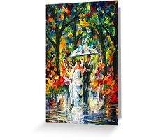 WEDDING UNDER THE RAIN - Leonid Afremov Greeting Card