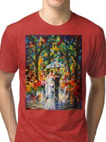 WEDDING UNDER THE RAIN - Leonid Afremov Tri-blend T-Shirt