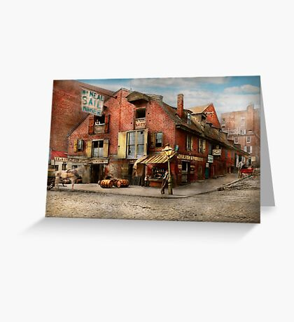 City - PA - Fish & Provisions 1898 Greeting Card