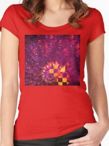 Ultraviolet Gold Spiral Women's Fitted Scoop T-Shirt
