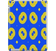blue yellow unique pattern iPad Case/Skin