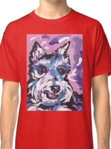 Schnauzer Bright colorful pop dog art Classic T-Shirt