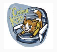 "Star Trek Kittens- ""Cat""pain Kirk by FlyingFoxWhale"