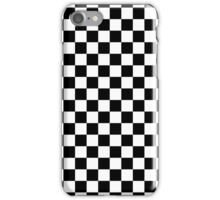 Black and White Checkered Squares iPhone Case/Skin
