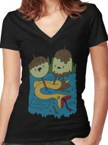 Adventure Time - Rock T-shirt Women's Fitted V-Neck T-Shirt