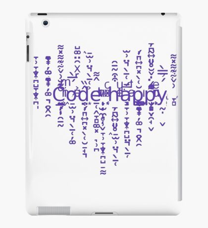 Code happy iPad Case/Skin