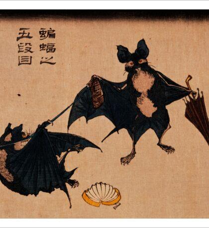 Bats and Umbrellas by Tsukioka Yoshitoshi Sticker