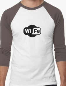 Wife ...a Wi-Fi parody Men's Baseball ¾ T-Shirt