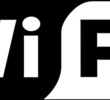Wife ...a Wi-Fi parody Sticker