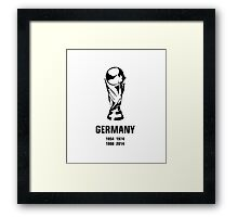 Germany World Cup wins Framed Print