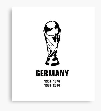 Germany World Cup wins Canvas Print