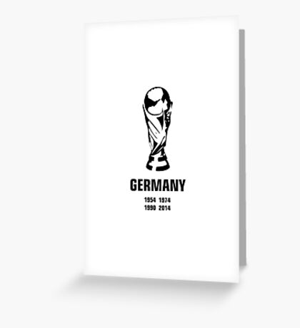 Germany World Cup wins Greeting Card