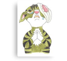 Kitten begging Canvas Print
