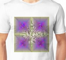 Floral Abstract with Center Flare Unisex T-Shirt
