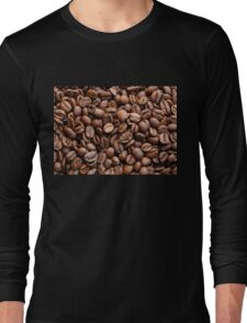 Coffee beans background Long Sleeve T-Shirt