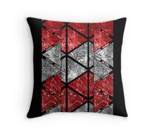 Red Triangle Stack Throw Pillow