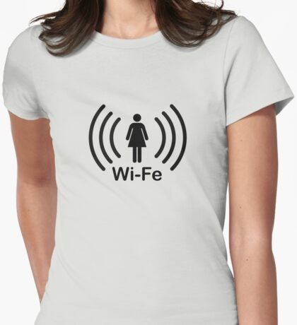 Wife - another Wi-Fi parody Womens Fitted T-Shirt