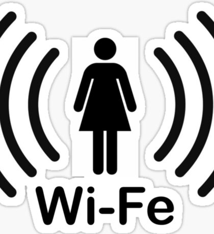 Wife - another Wi-Fi parody Sticker