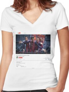 We are Number One but it's a T-Shirt Women's Fitted V-Neck T-Shirt