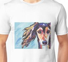 Saluki Hound Bright colorful pop dog art Unisex T-Shirt