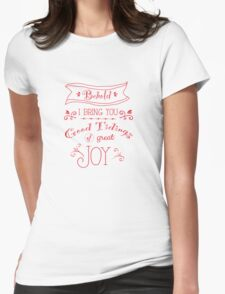 Tidings of Great Joy (red) by Jan Marvin Womens Fitted T-Shirt