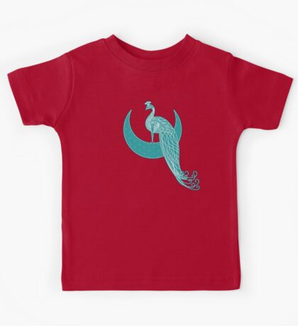 Peafowl On The Moon Kids Clothes