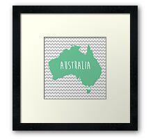 Australia Chevron Continent Series Framed Print