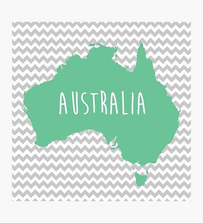 Australia Chevron Continent Series Photographic Print