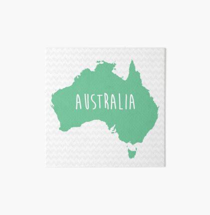 Australia Chevron Continent Series Art Board