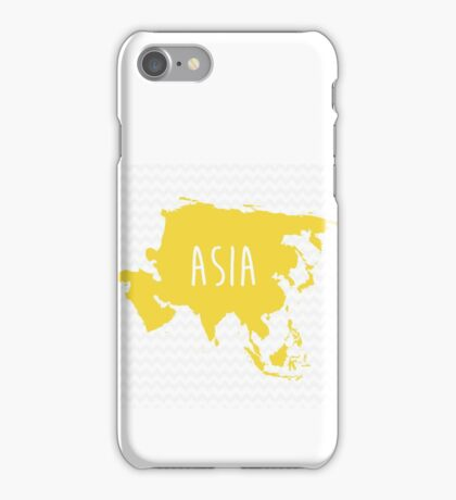 Asia Chevron Continent Series iPhone Case/Skin