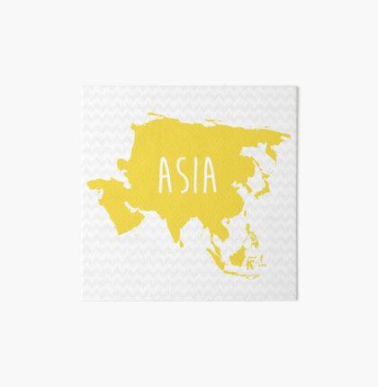 Asia Chevron Continent Series Art Board