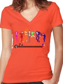 Persona 4!!! Women's Fitted V-Neck T-Shirt