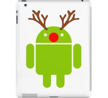 Red Nosed Android Robot iPad Case/Skin