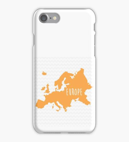 Europe Chevron Continent Series iPhone Case/Skin